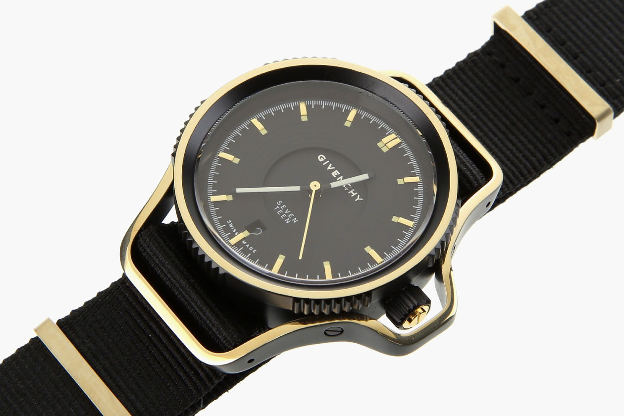 Very rare givenchy black gold seventeen wristwatch released the drop for Givenchy watches