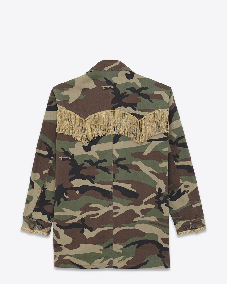SAINT LAURENT WESTERN MILITARY CAMOUFLAGE PARKA | THE DROP