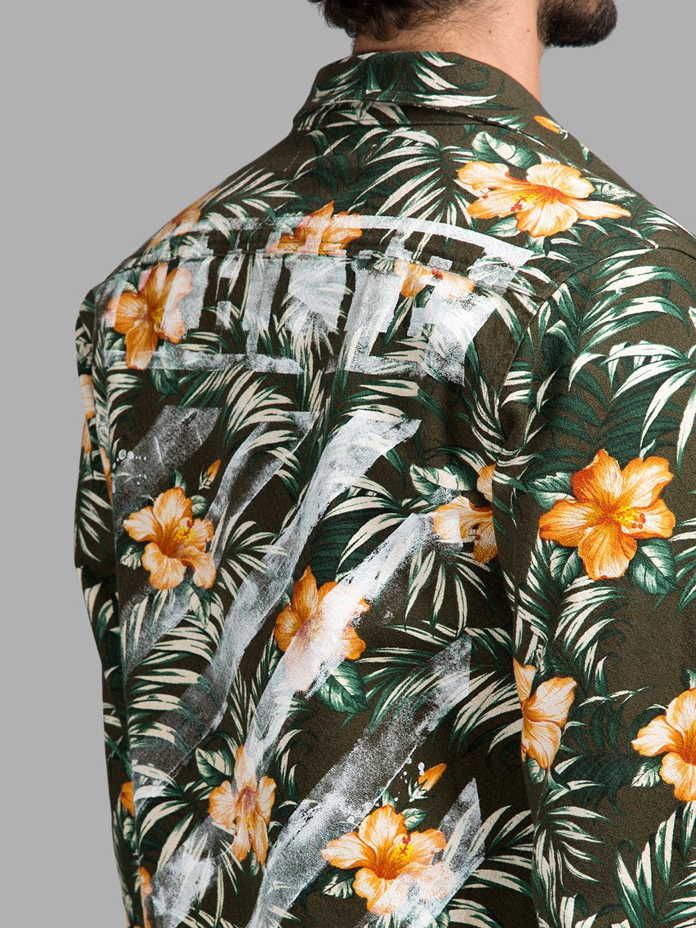 Off white c o virgil abloh ss15 floral shirt the drop for Off white virgil abloh