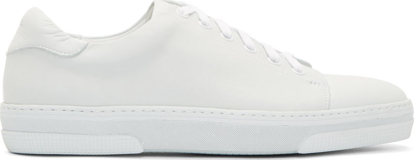 A.P.C. Leather Jaden Tennis Sneakers | THE DROP