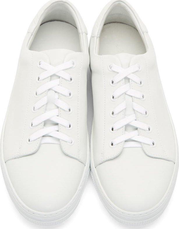 a p c leather jaden tennis sneakers the drop
